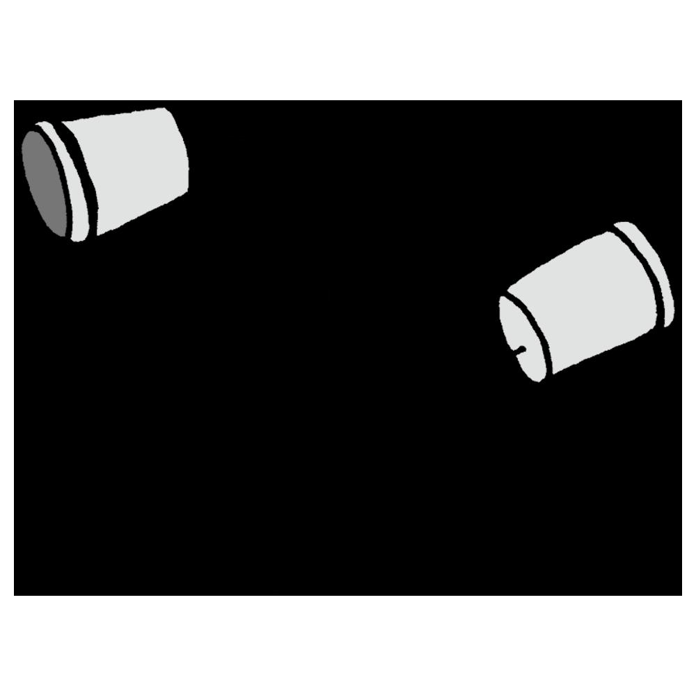 糸電話のフリーイラスト