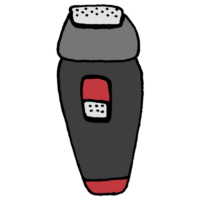 充電式の電気シェーバーのフリーイラスト