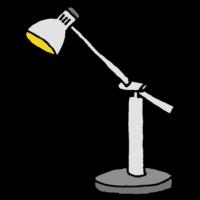 丸い電球のデスクライトのフリーイラスト