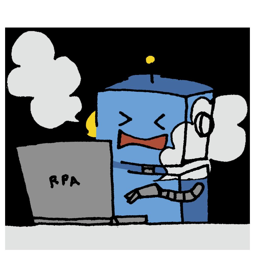 煙をふくロボットのフリーイラスト
