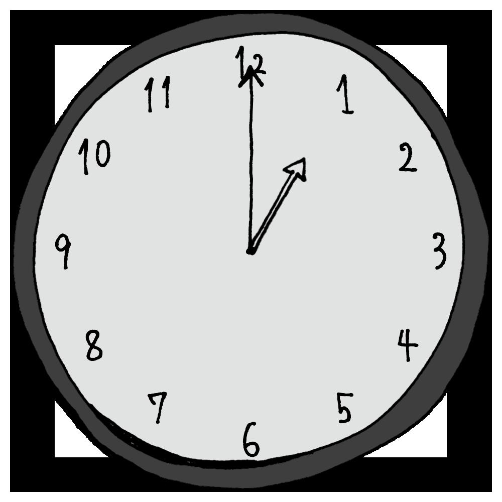 1時,午前1時,午後1時,AM,PM,時計,針,時間,手書き風,家電,電化製品,タイム,アナログ,短い針,長い針,時間の勉強,数字