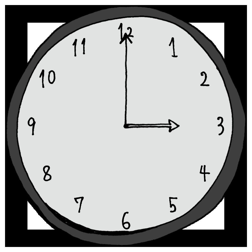3時,15時,おやつ,手書き風,アナログ,時計,AM,PM,時間,時間の勉強,数字,記号,電化製品,インテリア,計る,午前,午後