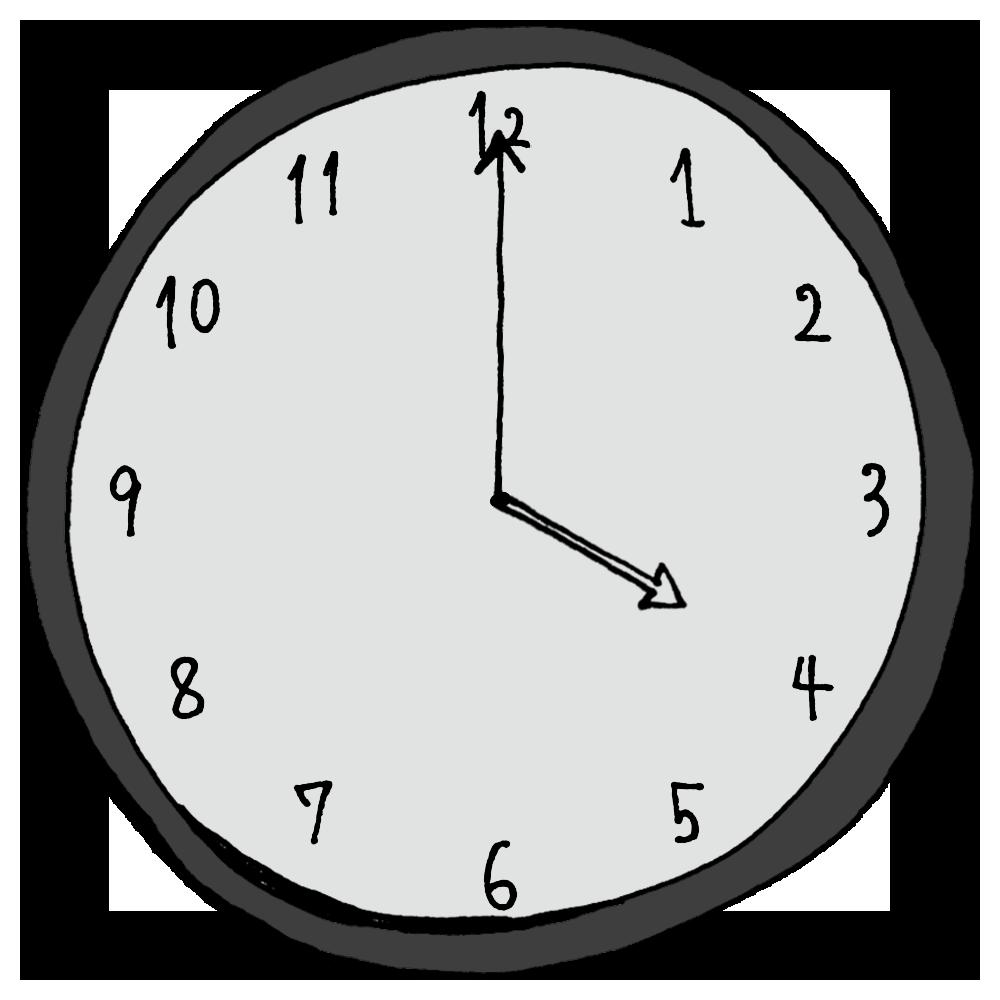 4時,16時,手書き風,アナログ,時計,AM,PM,時間,時間の勉強,数字,記号,電化製品,インテリア,計る,午前,午後