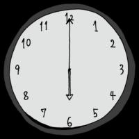 6時,18時,夕方,帰宅,帰宅時間,手書き風,時計,時間,時間の勉強,インテリア,電化製品,針,数字,記号