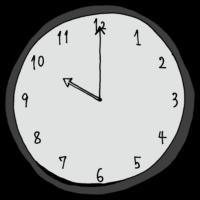 10時,20時,インテリア,手書き風,数字,時計,時間,時間の勉強,記号,針,電化製品