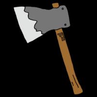 斧のフリーイラスト