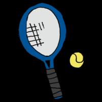 手書き風,テニス,ラケット,ボール,てにす,らけっと,ぼーる,スポーツ,運動,動く,球技,打つ,投げる,サーブ,レシーブ,走る,楽しい,硬式