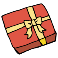 四角い箱に入ったプレゼントのフリーイラスト