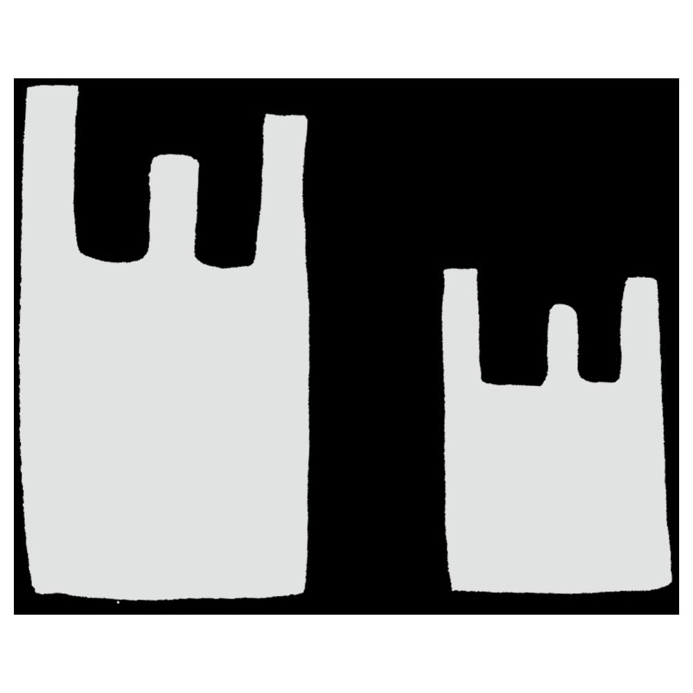 大きいビニール袋と小さいビニール袋のフリーイラスト
