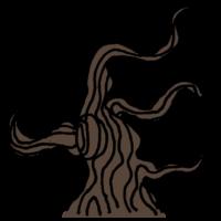 植物,木,枯れ木,ハロウィン,怖い,おばけ,手書き風,ハロウィーン,イベント,行事,Halloween,halloween,HALLOWEEN,ハロウィン