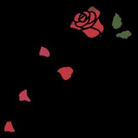手書き風,植物,お花,花,薔薇,ばら,バラ,花びら,花弁,散る,結婚式,フラワー,フラワーシャワー,結婚,おめでたい,おめでとう,イベント