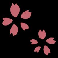 花びら5枚の桜の花のフリーイラスト