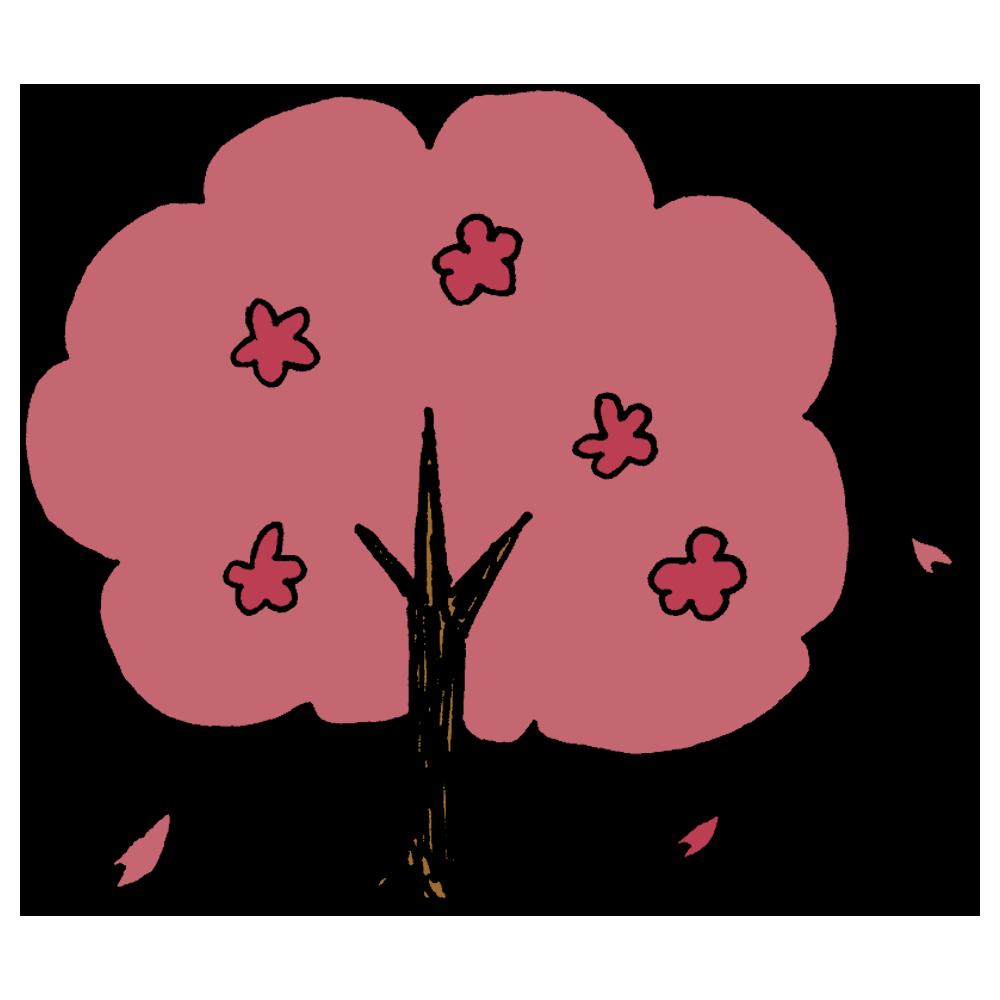 桜の木のフリーイラスト
