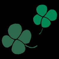 4つ葉のクローバーのフリーイラスト