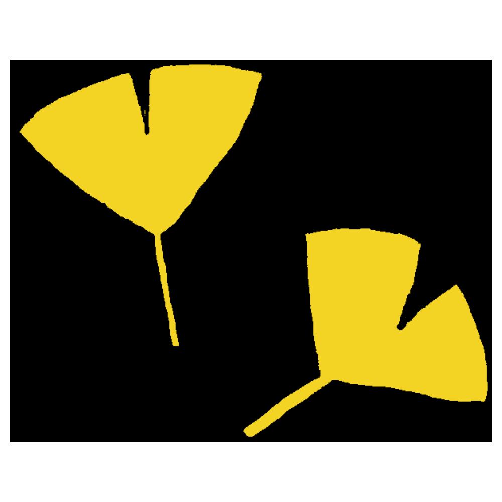 イチョウの葉のフリーイラスト
