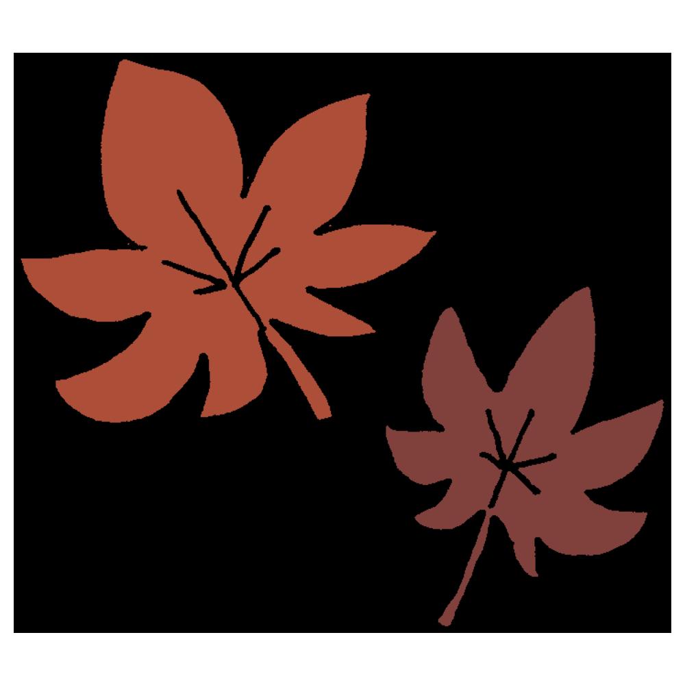 モミジの葉のフリーイラスト