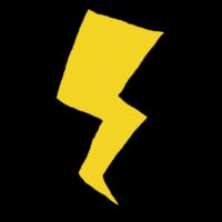 手書き風,景色,風景,自然,雷,天気,天気予報,落雷,危険,稲妻,かみなり,カミナリ,注意,注意報,天候,落雷注意,停電,電気,感電,ビリビリ,バリバリ,いなずま,イナズマ,電気系,記号