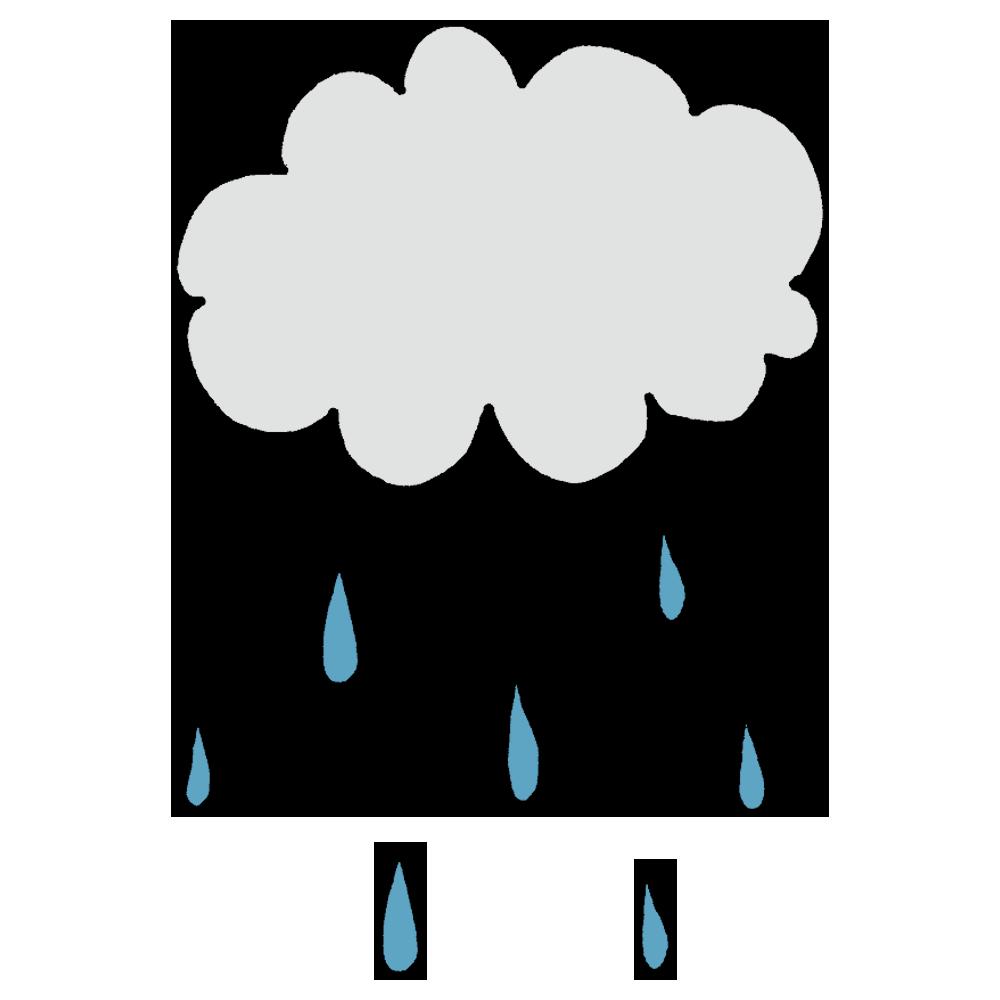 雨雲のフリーイラスト
