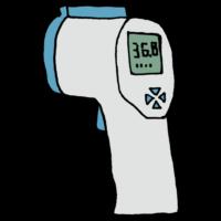 非接触式体温計のフリーイラスト