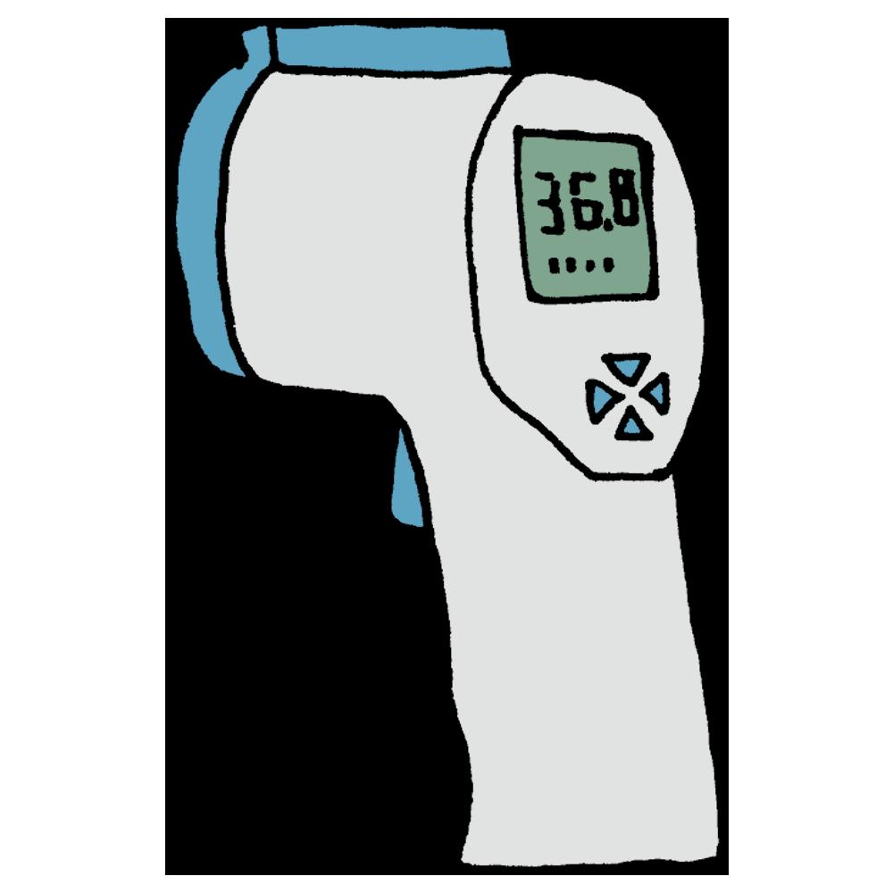 手書き風,医療,医学,体温計,たいおんけい,体温,計る,温度,検温,検査,医者,病院,非接触,非接触式体温計,非接触型体温計