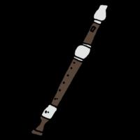 ソプラノリコーダーのフリーイラスト