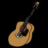 アコースティックギターのフリーイラスト