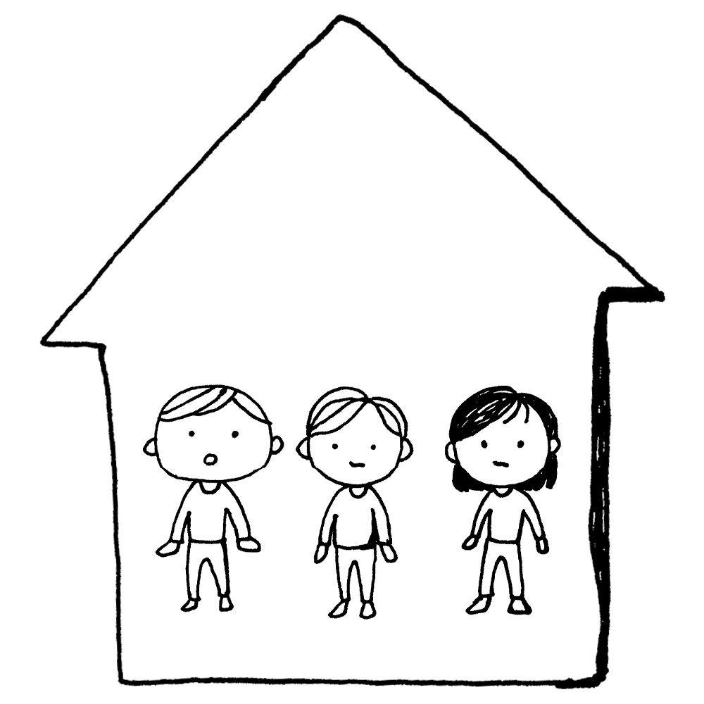 手書き風,人物,人,医療,コロナ,コロナウィルス,コロナウイルス,コロナウイルス対策,感染,対策,予防,三密,さんみつ,密,換気,悪い,空気,こもる,密閉,空間,密閉空間