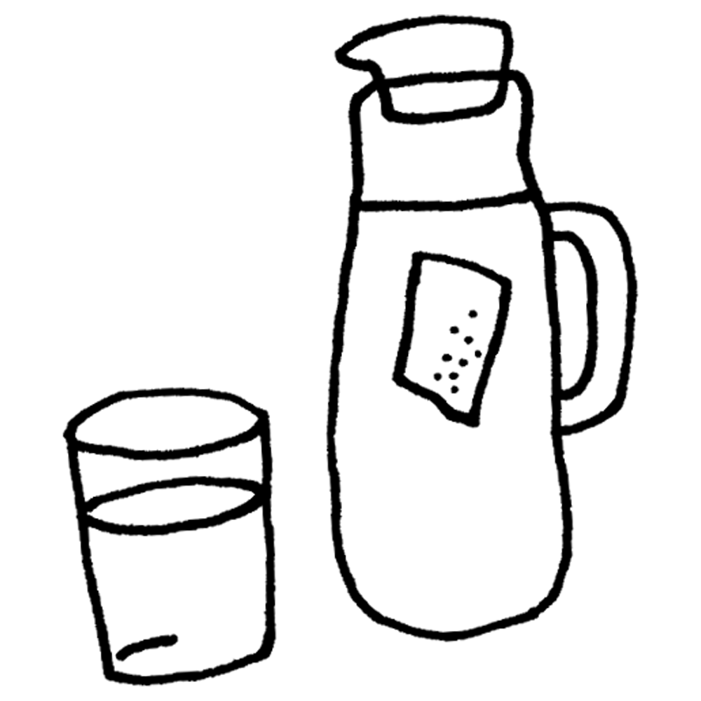 手書き風,冷たい,緑茶,日本,お茶,茶葉,ポット,ピッチャー,おちゃ,コップ,グラス,飲み物,りょくちゃ,飲む,和,カフェイン,水分,ひんやり,冷水,冷える