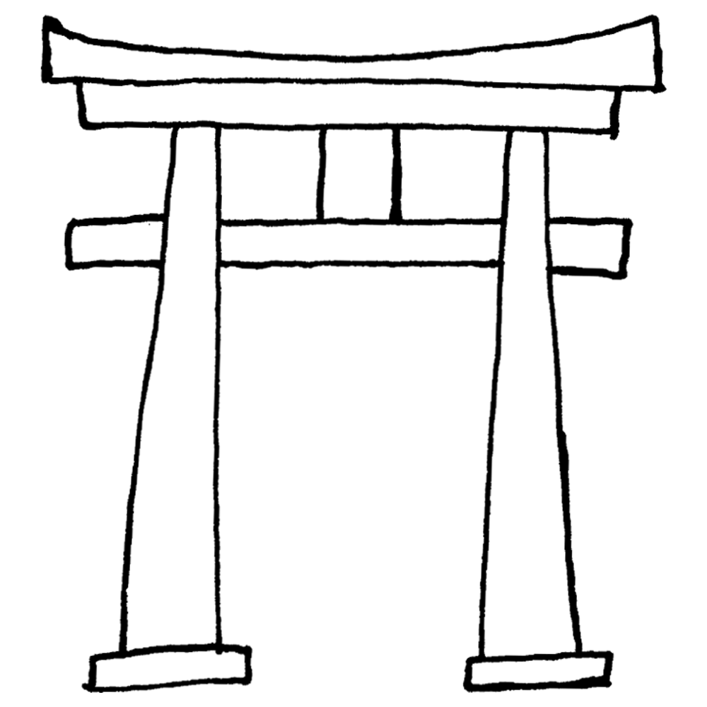 手書き風,場所,神社,とりい,トリイ,区画,結界,神域,初詣,お正月,お参り,七五三