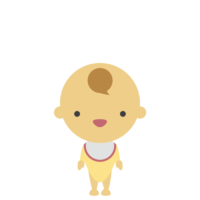 立つ赤ちゃんのフリーイラスト