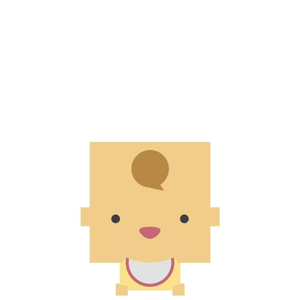 ハイハイをする赤ちゃんのフリーイラスト