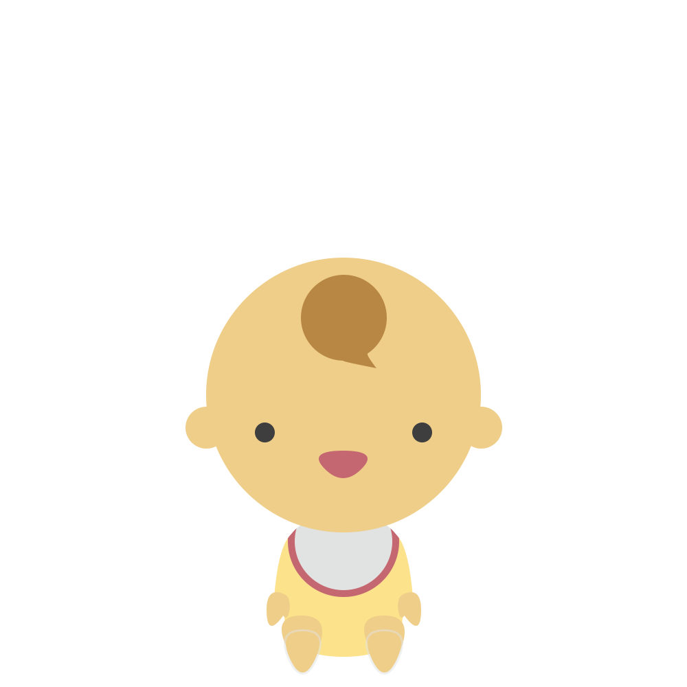 座る赤ちゃんのフリーイラスト