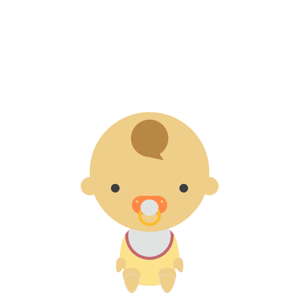おしゃぶりをする赤ちゃんのフリーイラスト