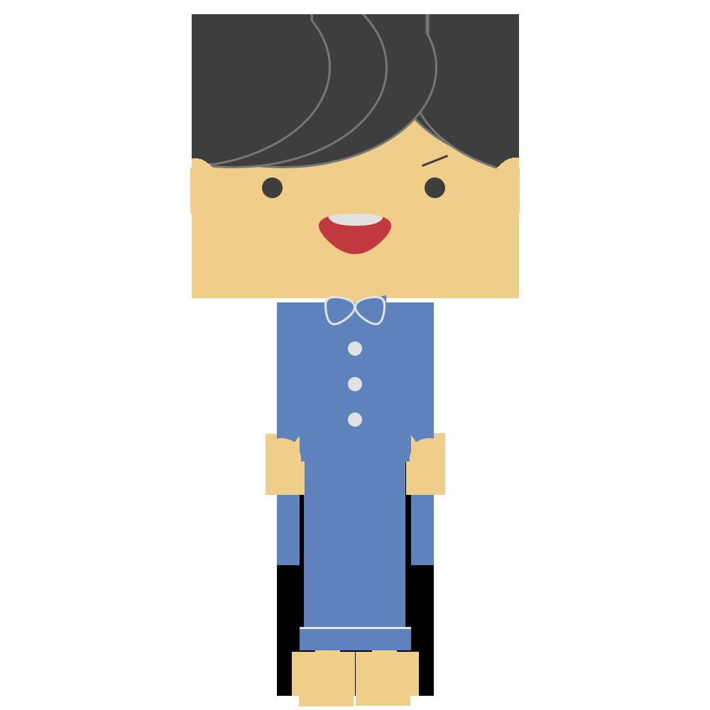 パジャマ姿の男の子のフリーイラスト