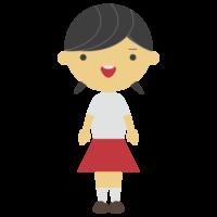 半袖の女の子のフリーイラスト