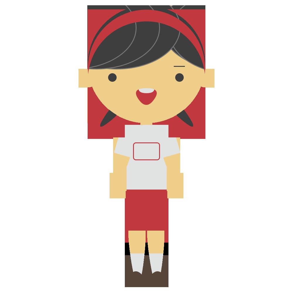 体操服の女の子のフリーイラスト