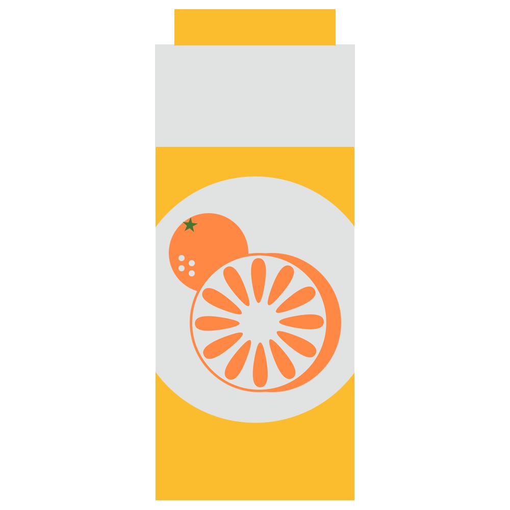 パックのオレンジジュース