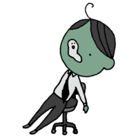 疲れて魂が抜けるスーツの男性のフリーイラスト