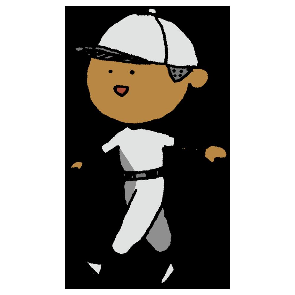 ボールペン描き,人物,男の子,野球,スポーツ,坊主,ユニフォーム