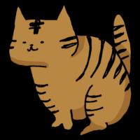 トラ柄のネコのフリーイラスト