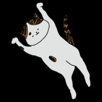 うにゃんするネコのフリーイラスト