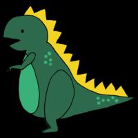 恐竜のフリーイラスト