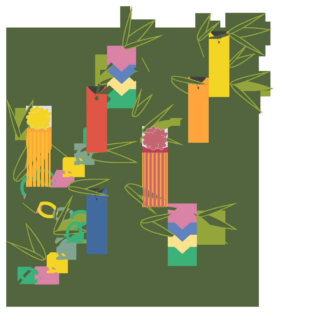 イベント,七夕,7月,シンプル,笹,飾り