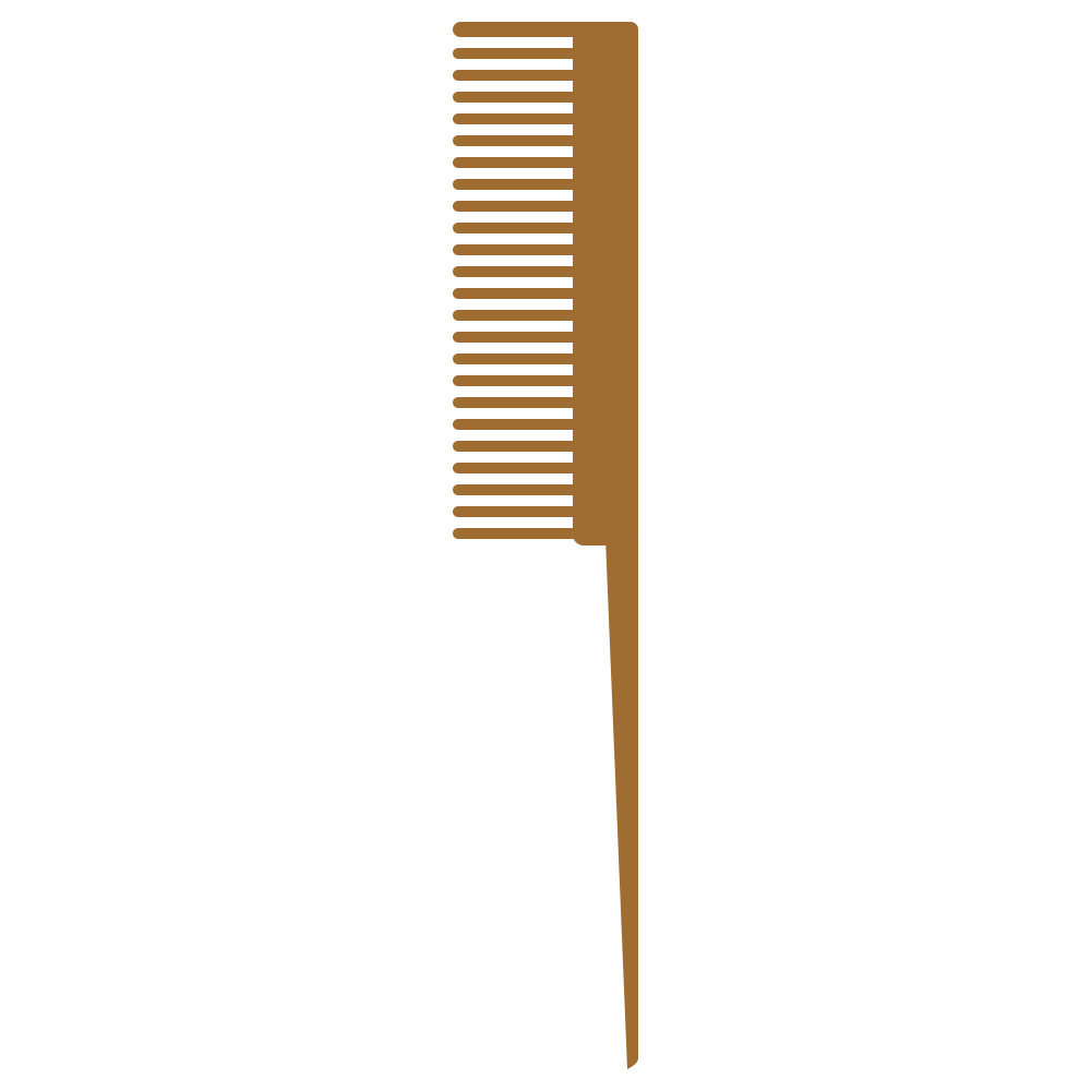 木製の櫛のフリーイラスト