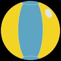 ビーチボールのフリーイラスト