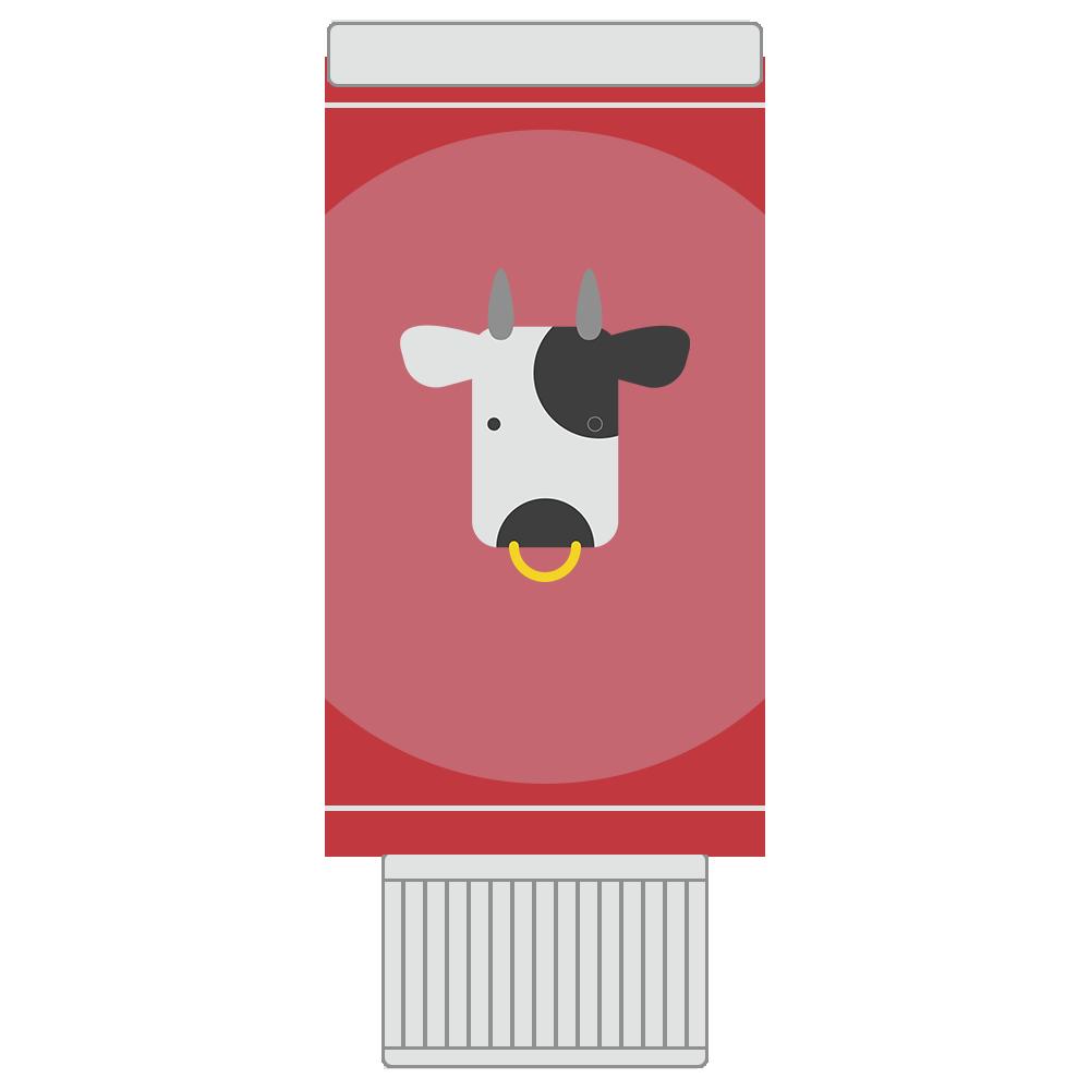 コンデンスミルクのフリーイラスト