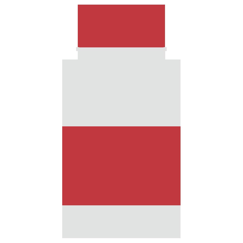 瓶に入った塩のフリーイラスト