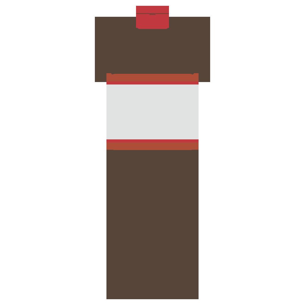 ボトルに入った液体調味料のフリーイラスト