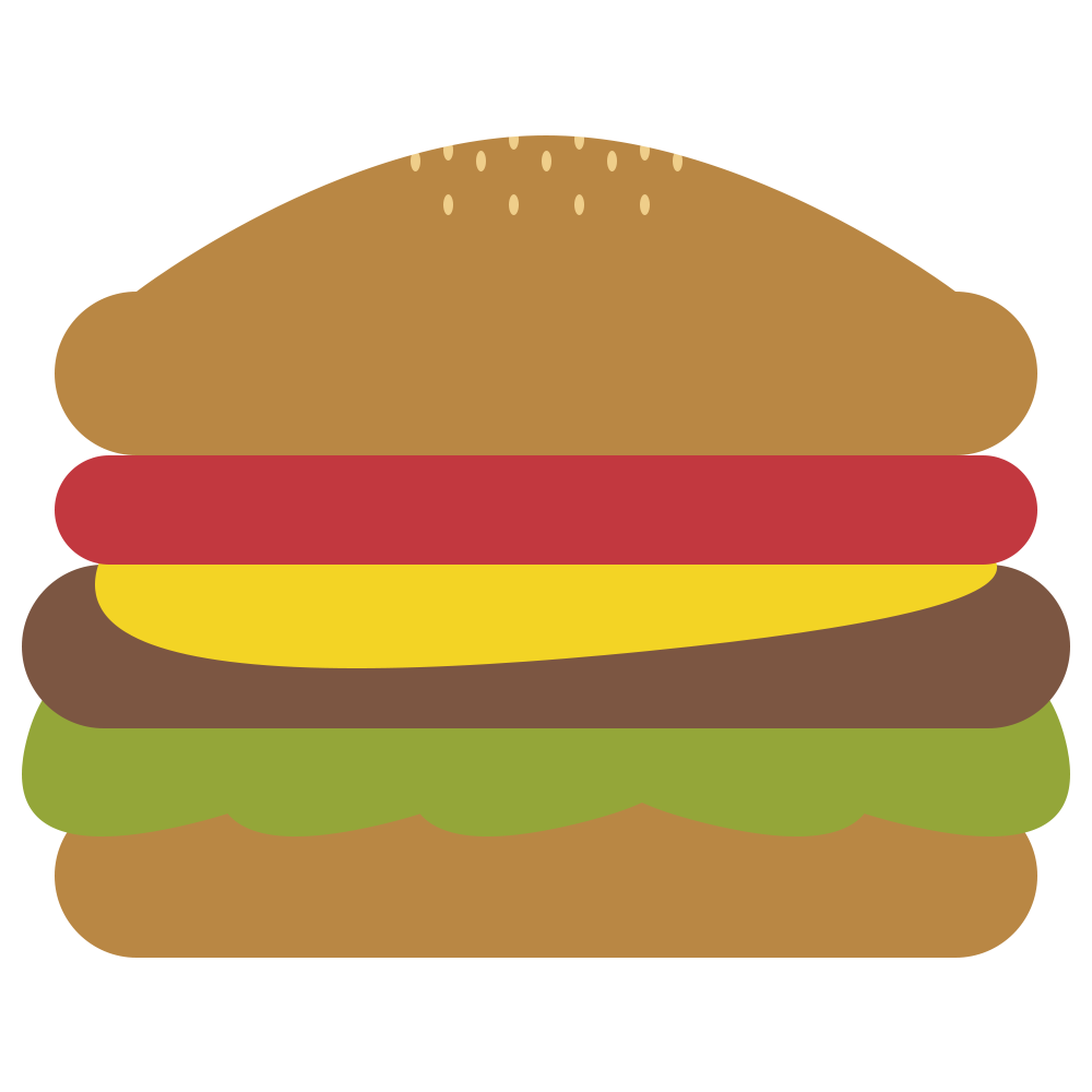 ハンバーガーのフリーイラスト