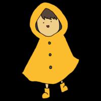 カッパを着た男の子のフリーイラスト